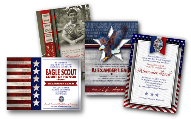 Digileach Designs Customized Eagle Scout Digital Invitations And