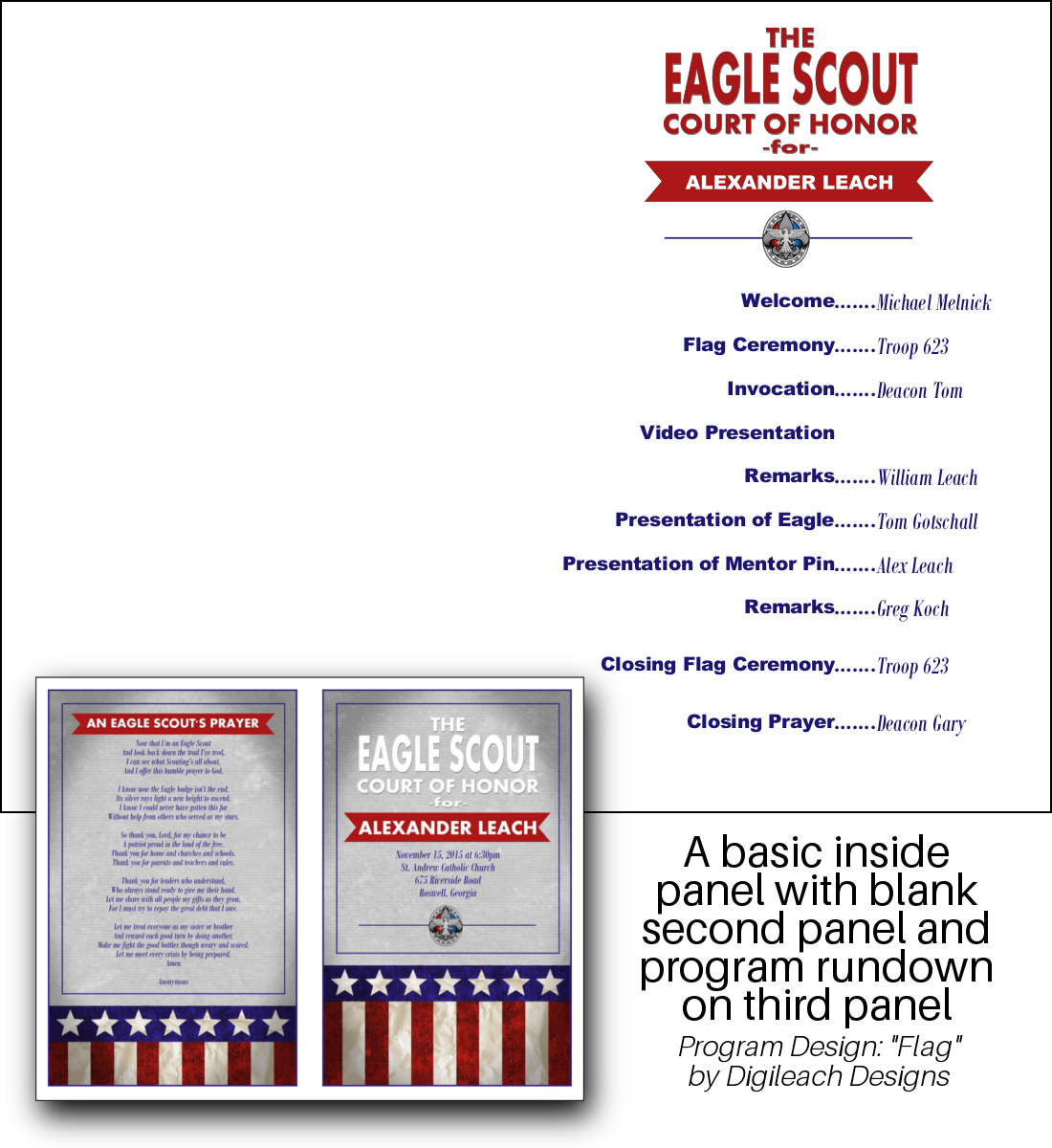 SAMPLE EAGLE PROGRAM FLAG COMBO