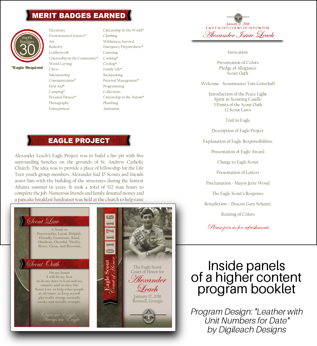 Digileach Designs | Customized Eagle Scout Digital Invitations and ...